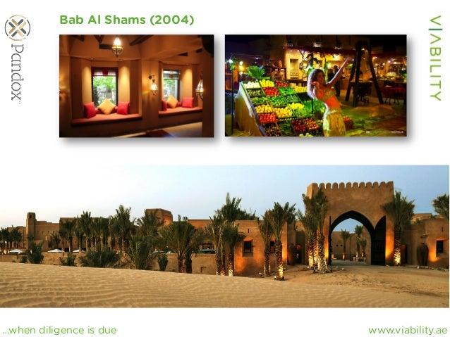 www.viability.ae…when diligence is due Bab Al Shams (2004)