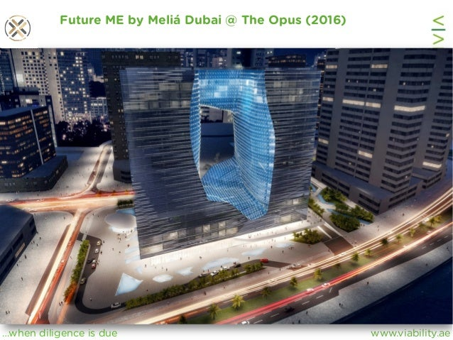 www.viability.ae…when diligence is due Future ME by Meliá Dubai @ The Opus (2016)