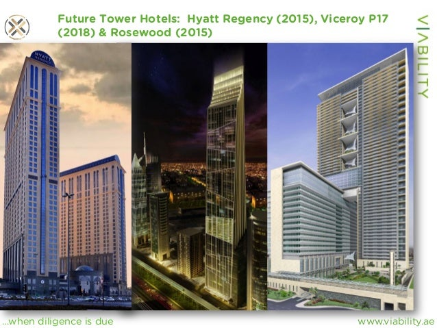 www.viability.ae…when diligence is due Future Tower Hotels: Hyatt Regency (2015), Viceroy P17 (2018) & Rosewood (2015)