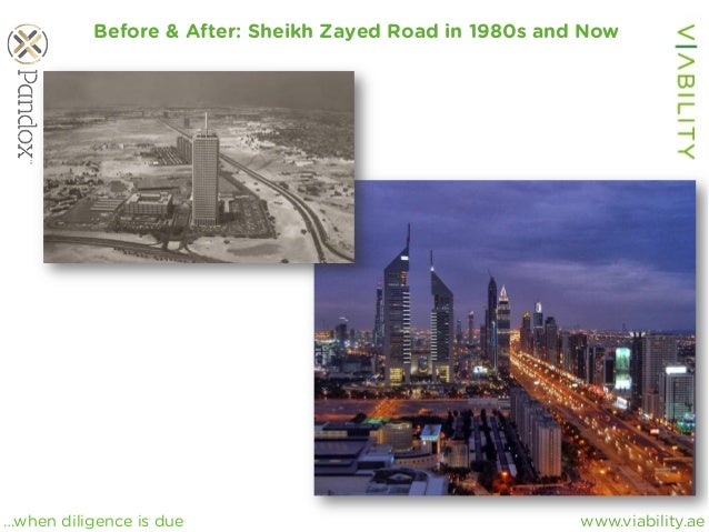 www.viability.ae…when diligence is due Before & After: Sheikh Zayed Road in 1980s and Now