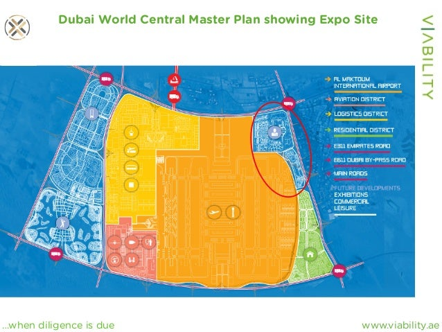 www.viability.ae…when diligence is due Dubai World Central Master Plan showing Expo Site