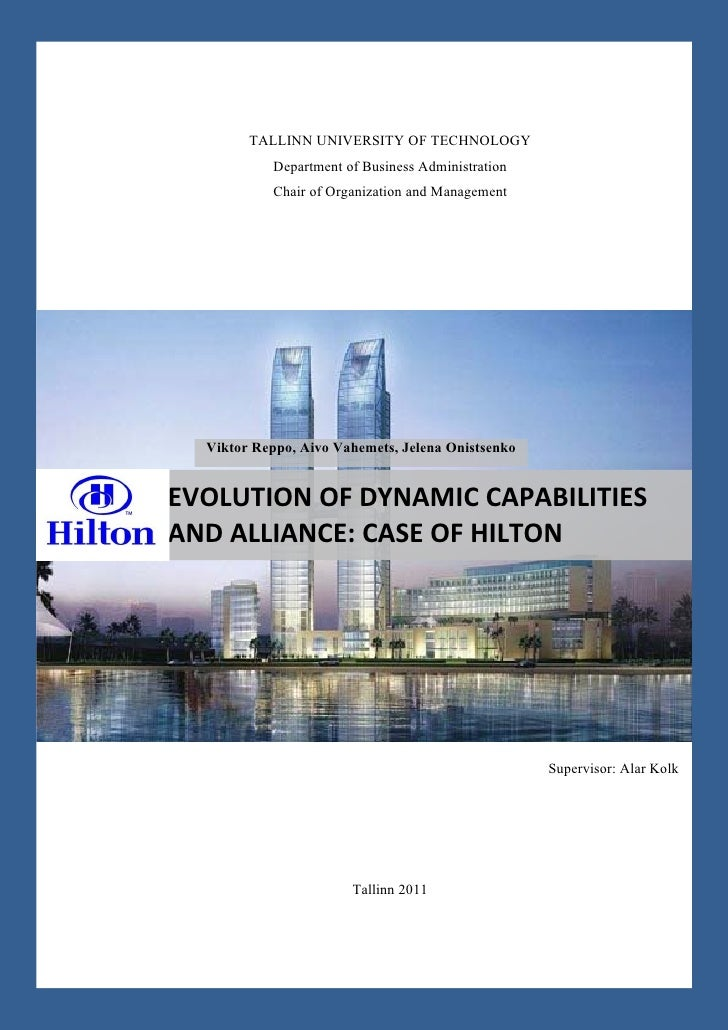 Evolution of Dynamic Capabilities and Alliance: Case of Hilton