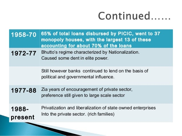 evolution of banks in pakistan Are banks in pakistan also exhibiting symptoms of similar financial malaise  caused by extensive liberalisation.