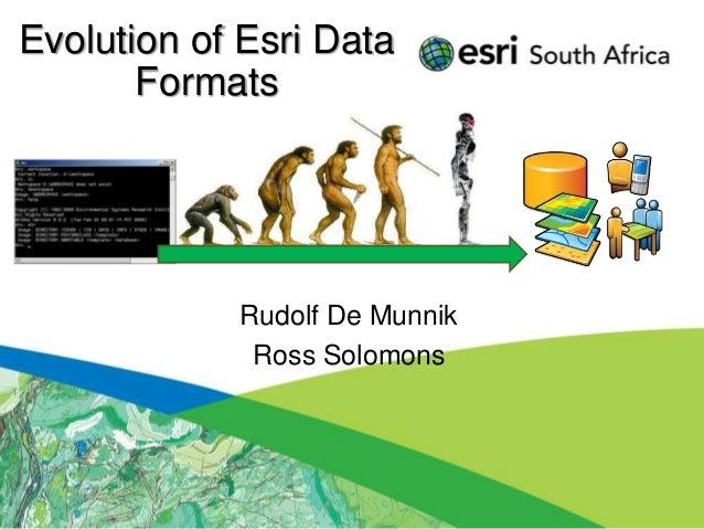 Evolution of Esri Data       Formats            Rudolf De Munnik             Ross Solomons