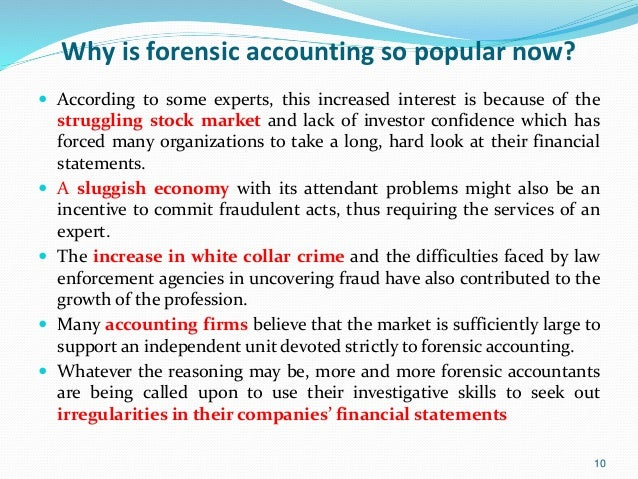 forensic accountant role in enron scandal The role of the forensic accountant in assessing the control environment and anti-fraud programs  with enron, led to the.