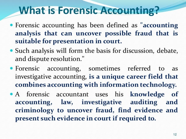 The first forensic accountant