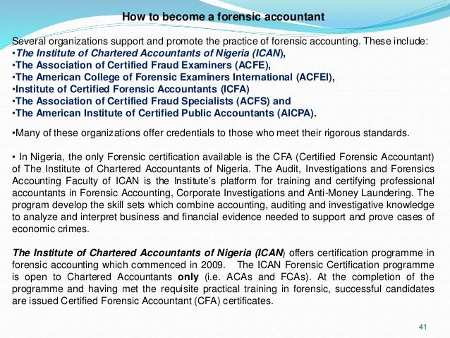 Evolution of forensic accounting and its role in Nigeria Economy