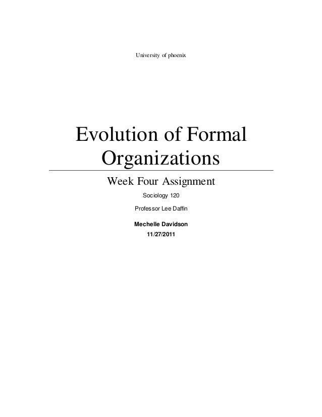 Evolution of Formal Organizations