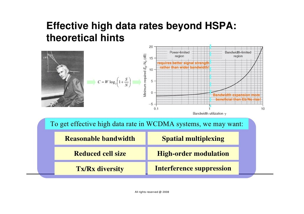 Effective high data rates beyond HSPA: theoretical hints                                                       requires be...