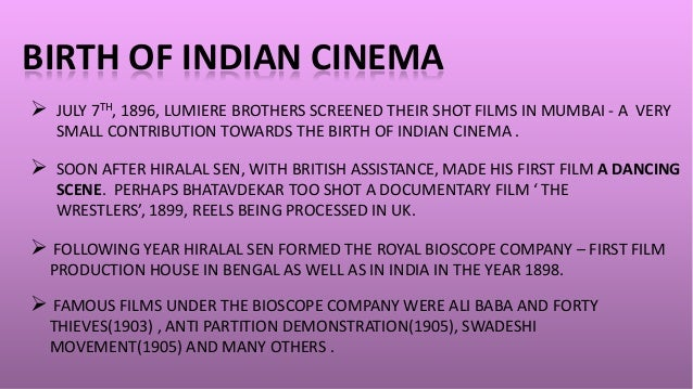 write a note on the growth and development of indian cinema