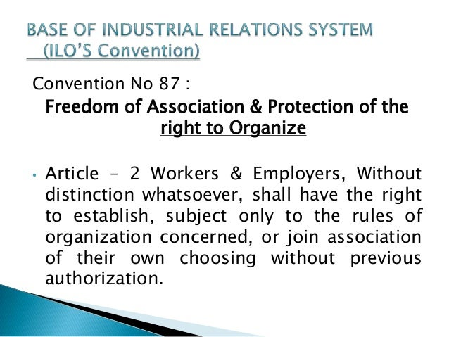 caribbean industrial relations freedom of association Unions & labor in my time we was  essential to industrial fair play without them the labor bargain is  election without freedom of speech, freedom of.