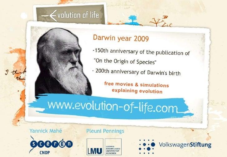 free movies & simulations  explaining evolution