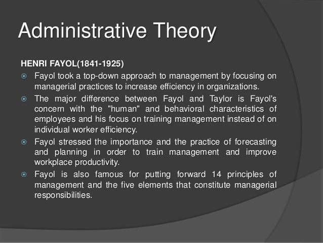 differences and similarity between weber and fayol concept in management theory and practice Learn more about the five functions of management by henri fayol to  the  french engineer henri fayol created the first principles of management theory   and report on actual performance compare results with performance and  standards  bureaucratic theory / bureaucratic management by max weber -  toolshero.
