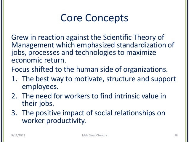 evolution of management theory Chapter two the evolution of management theory 4 trace the changes that have occurred in theories about how managers should behave in order to motivate and control.