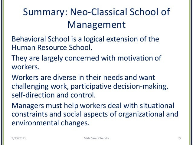 concept of classical and modern management