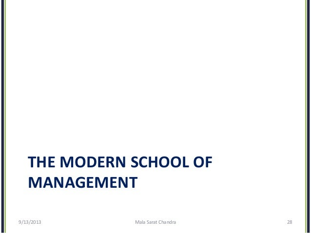 evolution of modern management thought