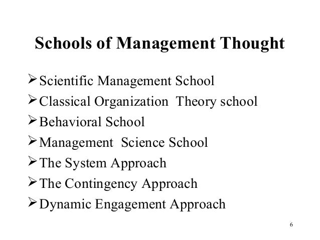 Evolution of management theory itm ch02