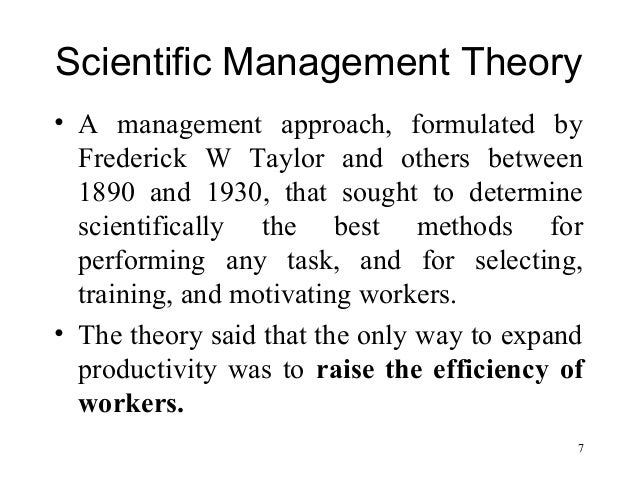 scientific management theory analysis Scientific management theory  planning mainly aims to correctly carry out the tasks from the first time by set of procedures and analysis using wbs,.