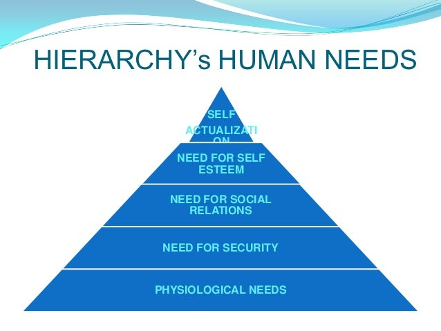 hirrarchy of human need