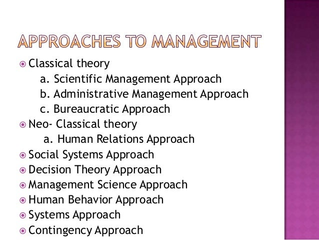 Evolution of management assignment