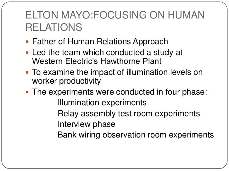 contributions of elton mayo to the development of management thought • know the historical development of schools of management thought  elton mayo has been considered as the father of the human relations  contribution of the modern management theory.