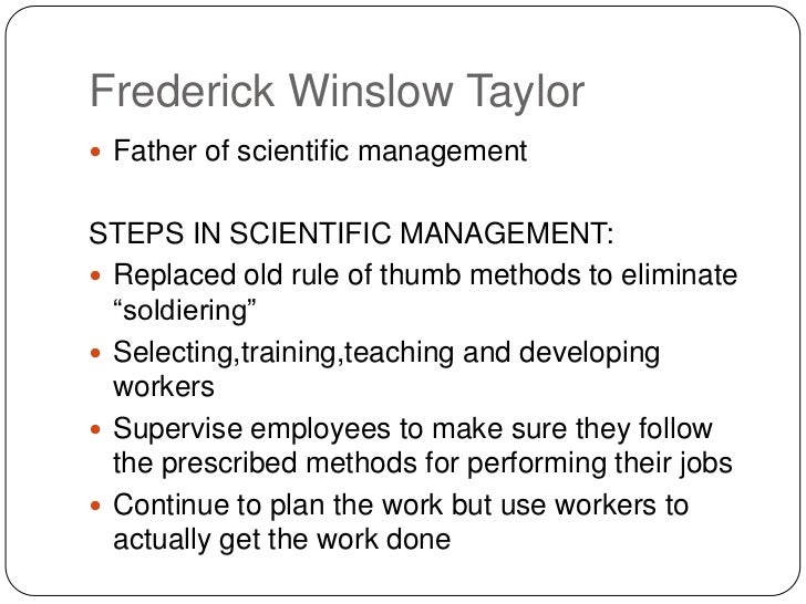 scientific management evolution of scientific school of thought Definition of scientific management: an early 20th century school of management thought concerned primarily with the physical efficiency of an individual worker.