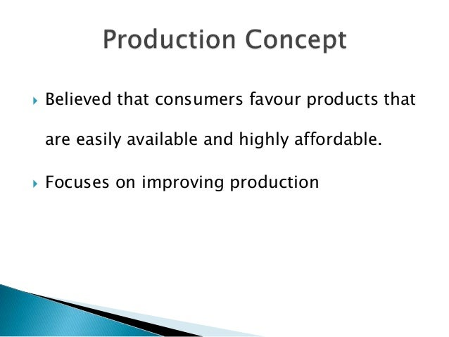 product and selling marketing concept with examples Marketing: historical perspectives marketing is one of the major functional areas of a business firm in this introduction to marketing, this article will describe and define the concept.