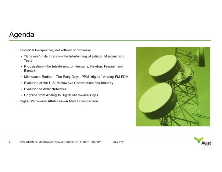 The Evolution of Microwave Communications Slide 2