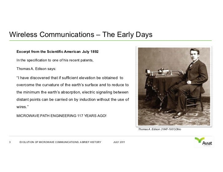 The Evolution of Microwave Communications Slide 3