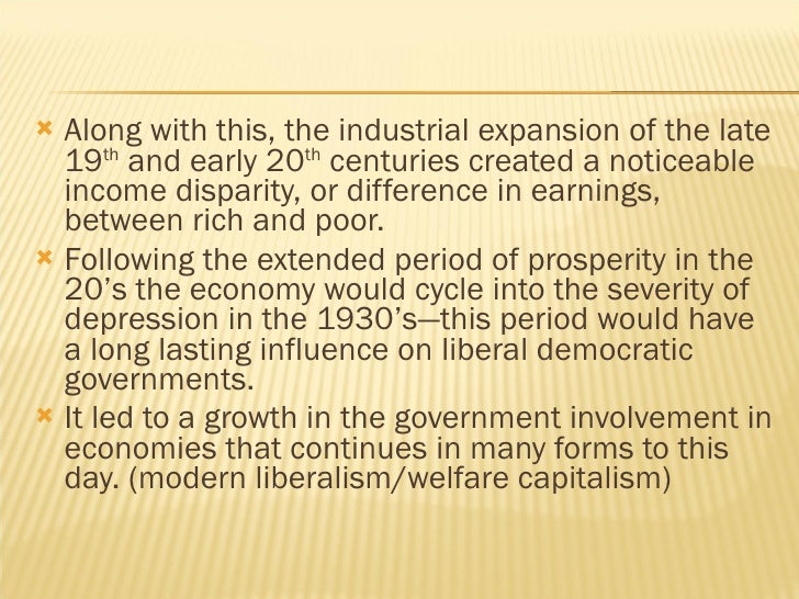 the great depression and the shift in liberalism An important consideration in the debate over hegemonic stability theory is the role of  policy reflected the inward shift:  of the great depression.