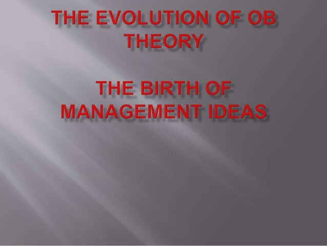 organizational behavior and management thinking