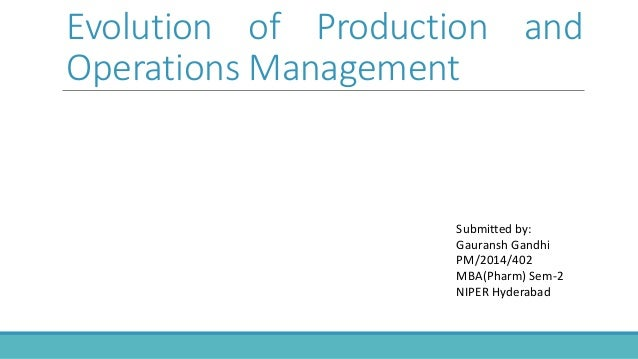 evaluation of operation management