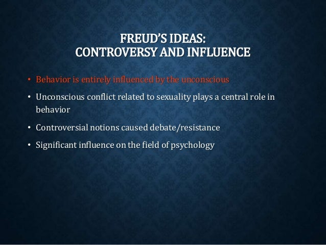 an analysis of the controversy in relation to freuds method of psychology Freud had a variety of influences on psychology, psychiatry,  explain the controversy between american and european psychoanalysts over lay analysis.