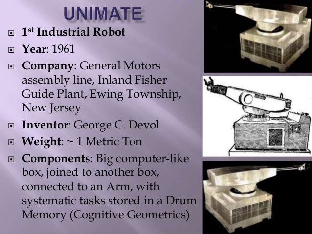 Technological evolution of robotics dr sanjoy sanyal for General motors assembly line job description