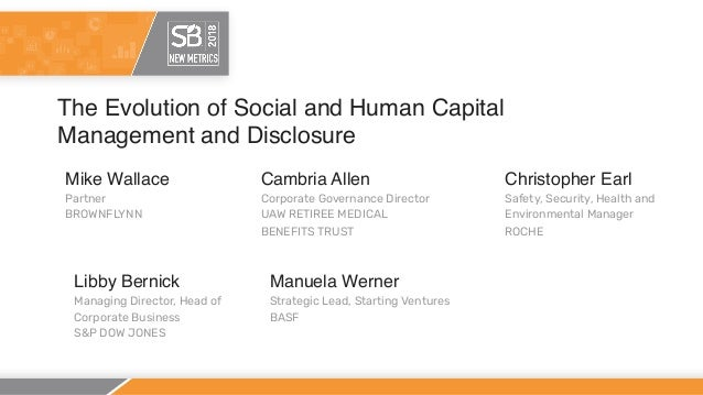The Evolution of Social and Human Capital Management and Disclosure Mike Wallace Partner BROWNFLYNN Cambria Allen Corporat...
