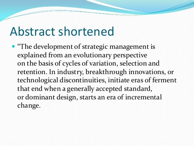 strategic management synopsis Sample business plan synopsis 1  , nutritious garden grown eco-healthy lunch served locally owned strategic management and planning.