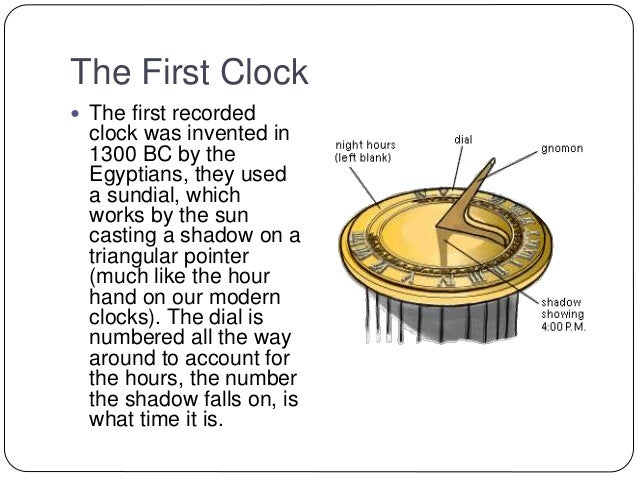 Evolution of the clock