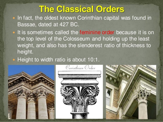Evolution Of The Columns