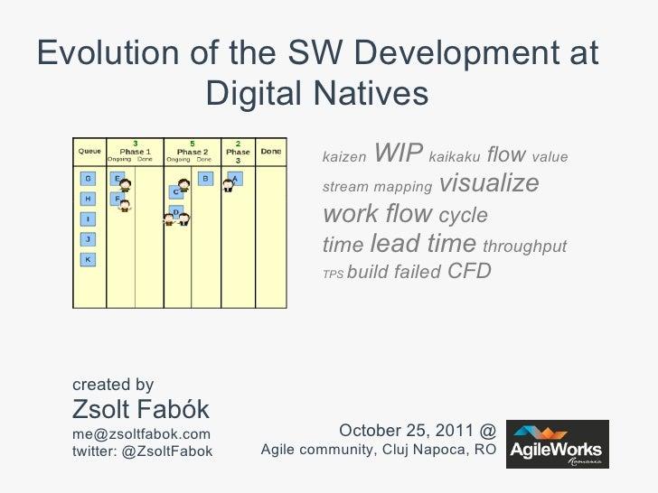 Evolution of the SW Development at           Digital Natives                                 kaizen WIP kaikaku flow value...