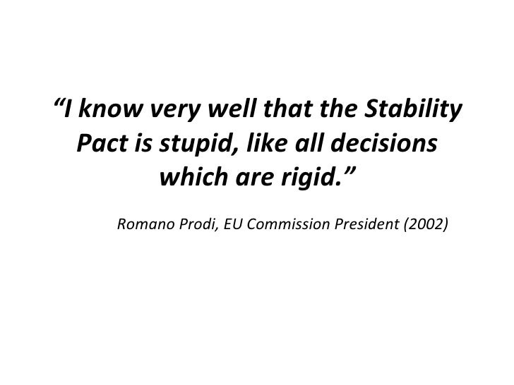 Evolution of the stability and growth pact Slide 3