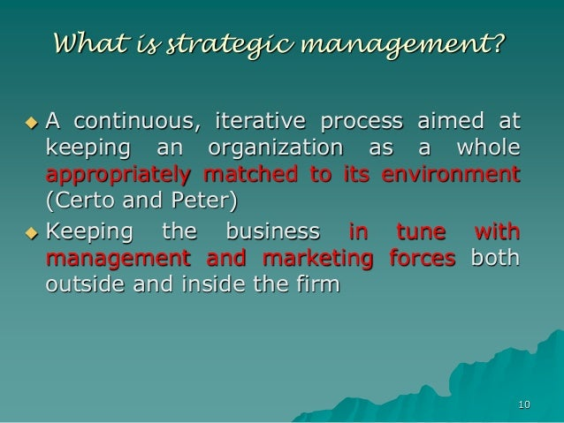 evolution of strategic management pdf