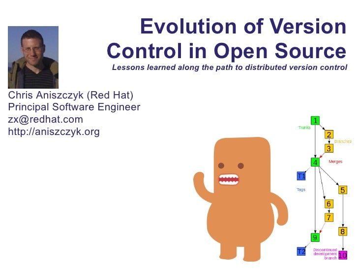 Evolution of Version                    Control in Open Source                     Lessons learned along the path to distr...