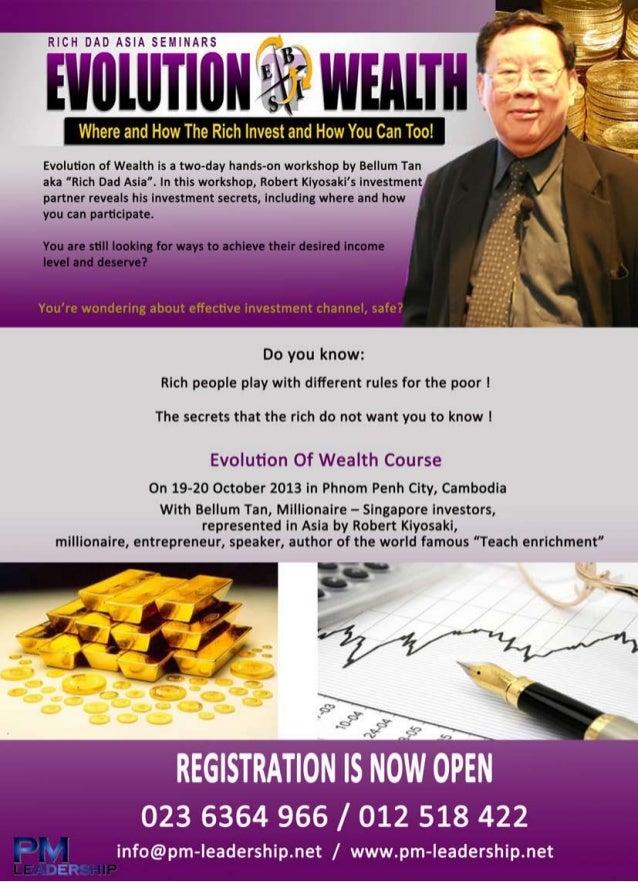 Evolution of wealth program 2013 in cambodia
