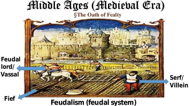 Middle Ages (Medieval Era) Feudalism (feudal system) Feudal lord/ Serf/ Villein Vassal Fief §The Oath of Fealty