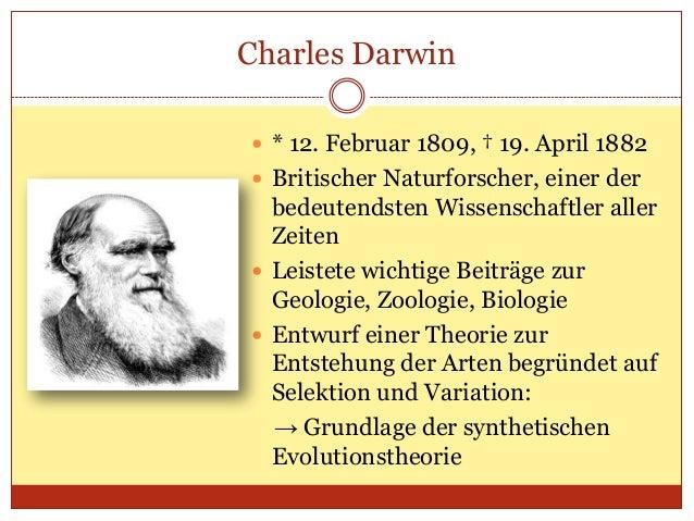 Evolutionstheorie Charles Darwin