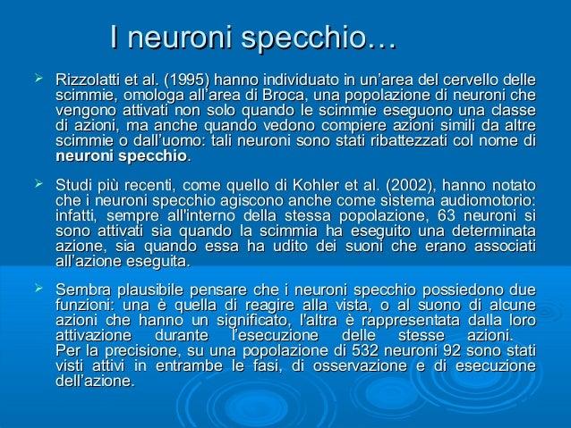 Evoluzione del linguagio 2434926 - Neuroni a specchio rizzolatti ...