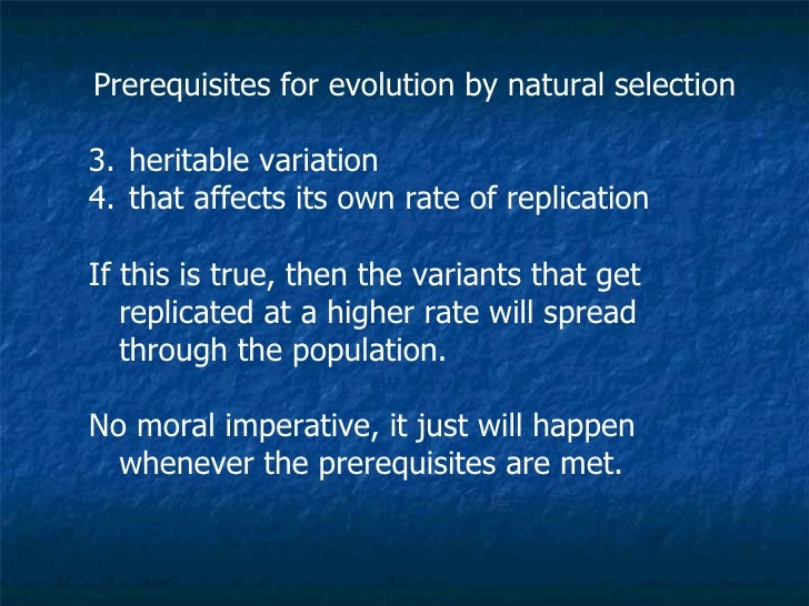 How Does A Population Evolve Through Natural Selection Heritable Variation