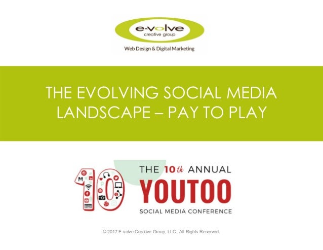 THE EVOLVING SOCIAL MEDIA LANDSCAPE – PAY TO PLAY © 2017 E-volve Creative Group, LLC., All Rights Reserved.