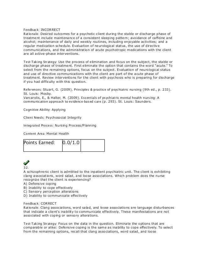 Evolve Psychiatric Exam