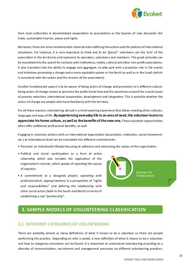 EVOLVET- 2015-1-ES01-KA202-015929 23 Evolvet from local authorities in decentralized cooperation to associations as the be...